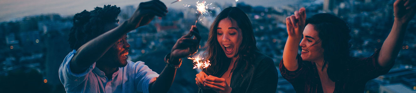 People with sparklers image